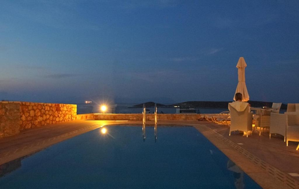 The swimming pool at or near Kythira Golden Resort
