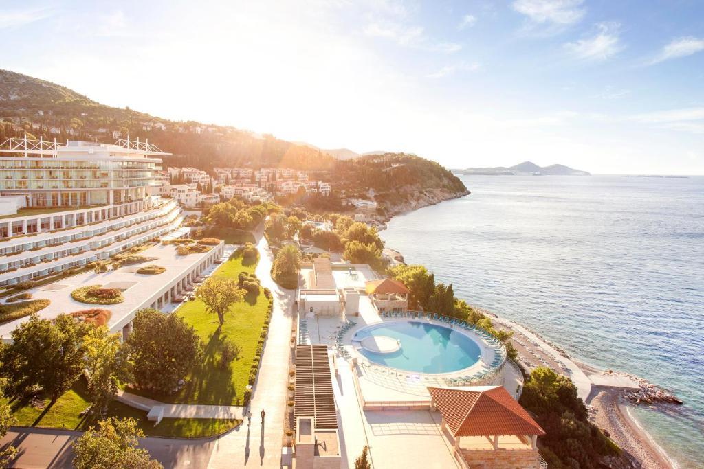 Letecký snímek ubytování Sun Gardens Dubrovnik