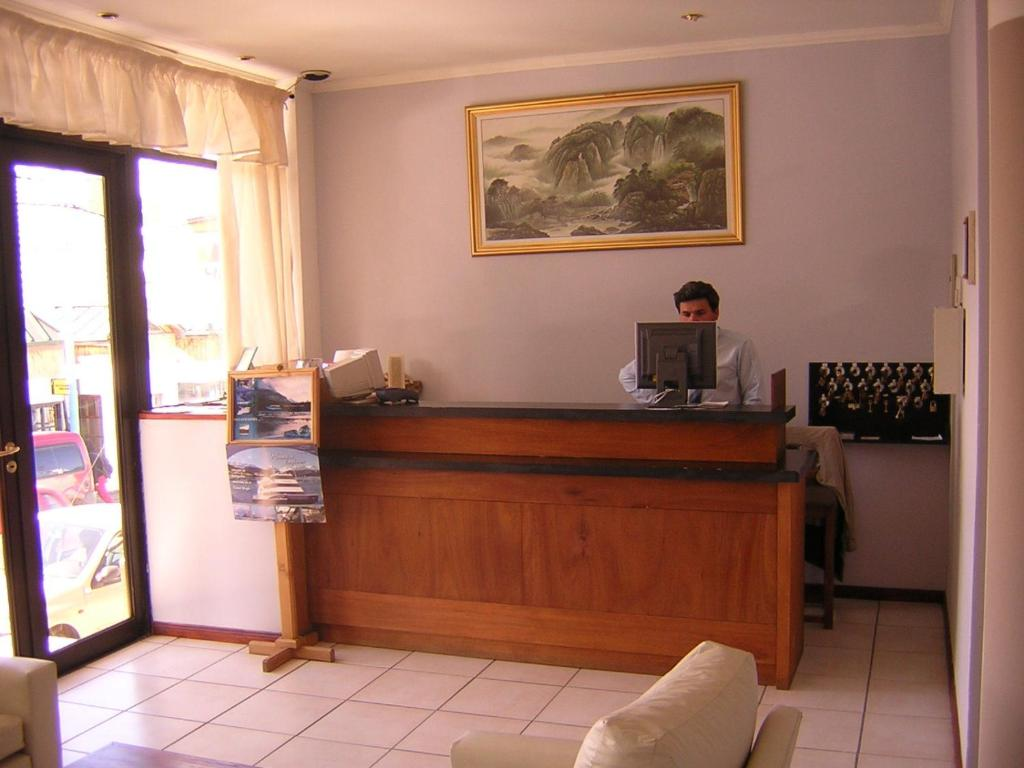 The lobby or reception area at Hotel Antartida Argentina