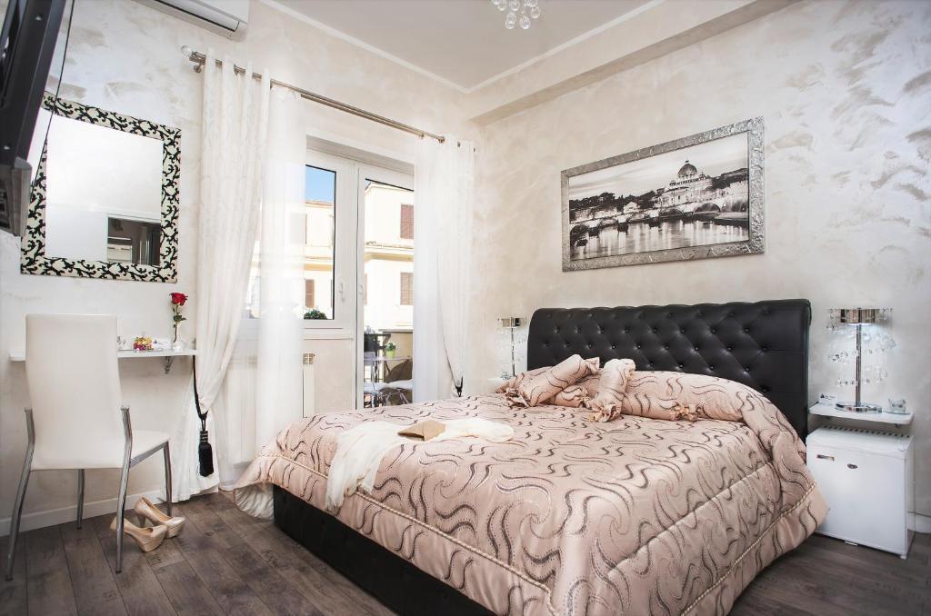 Cama ou camas em um quarto em B&B San Pietro Panoramic View