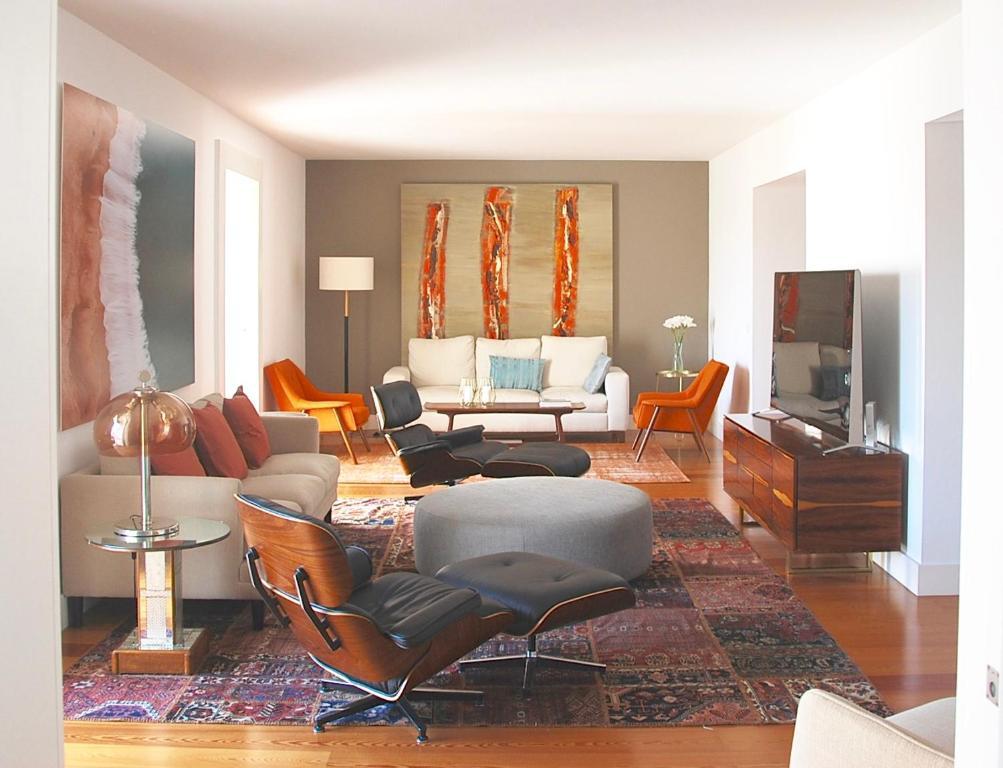 A seating area at Santa Catarina Luxury Apartment