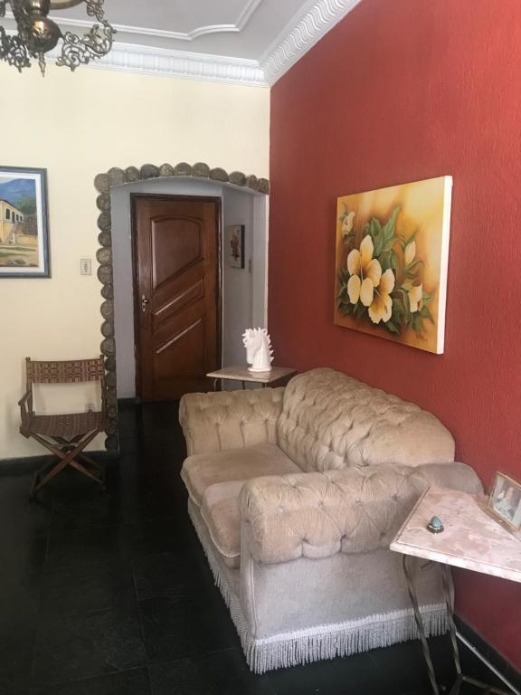 A seating area at Apartamento Ano Bom