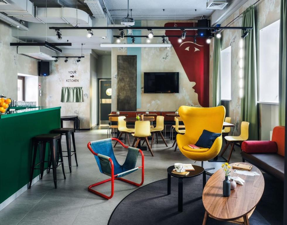 The lounge or bar area at NETIZEN Saint Petersburg Centre