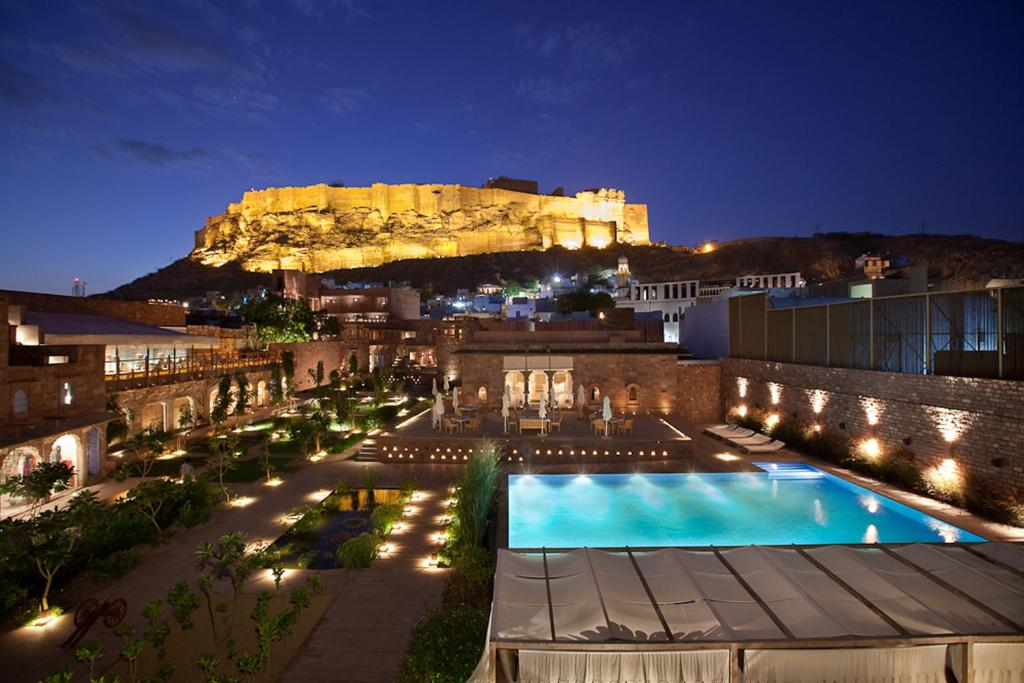 A view of the pool at RAAS Jodhpur or nearby