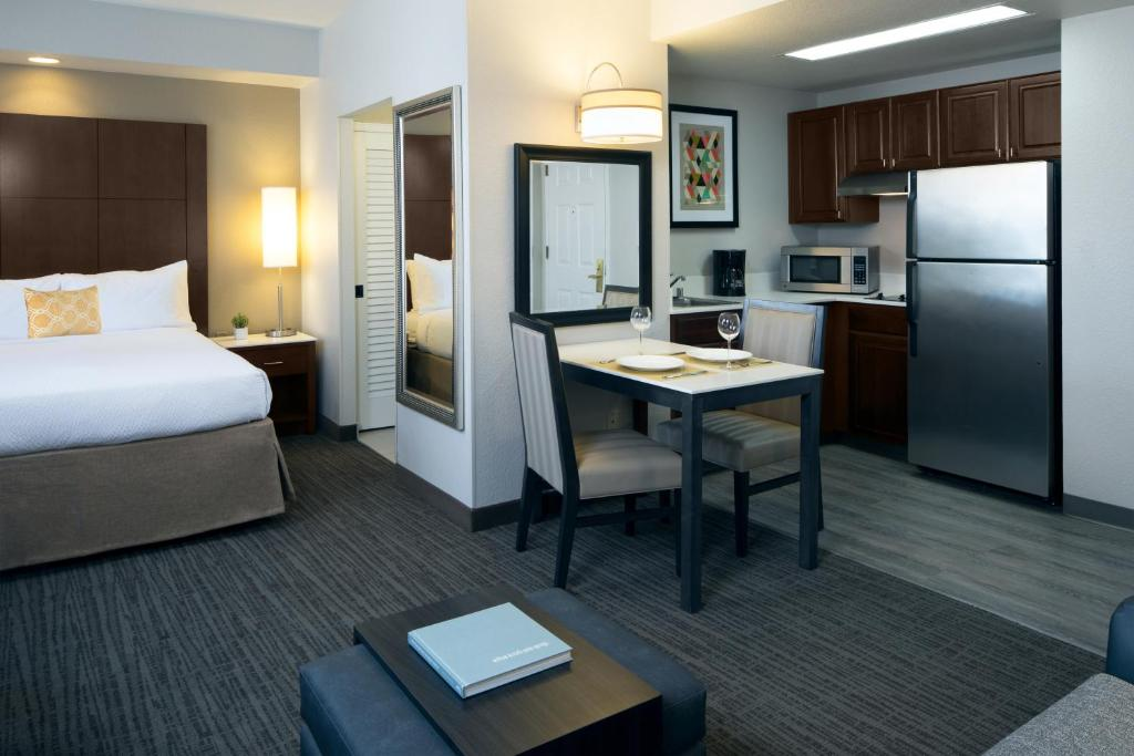 A room at the Residence Inn by Marriott Beverly Hills.