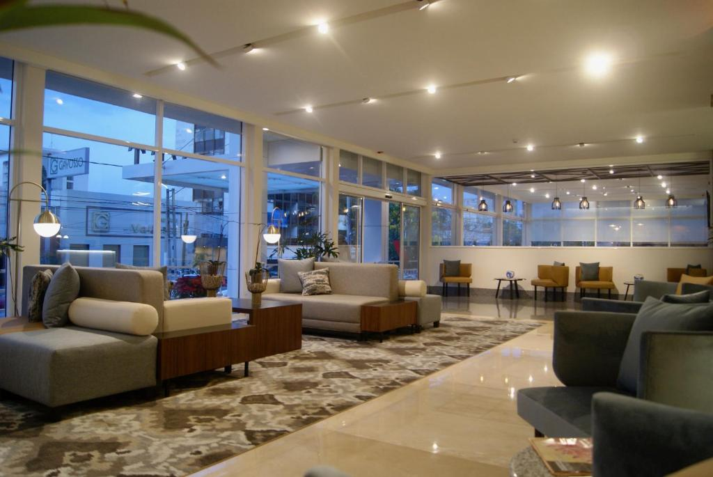 The lobby or reception area at Hotel Velvet Plaza