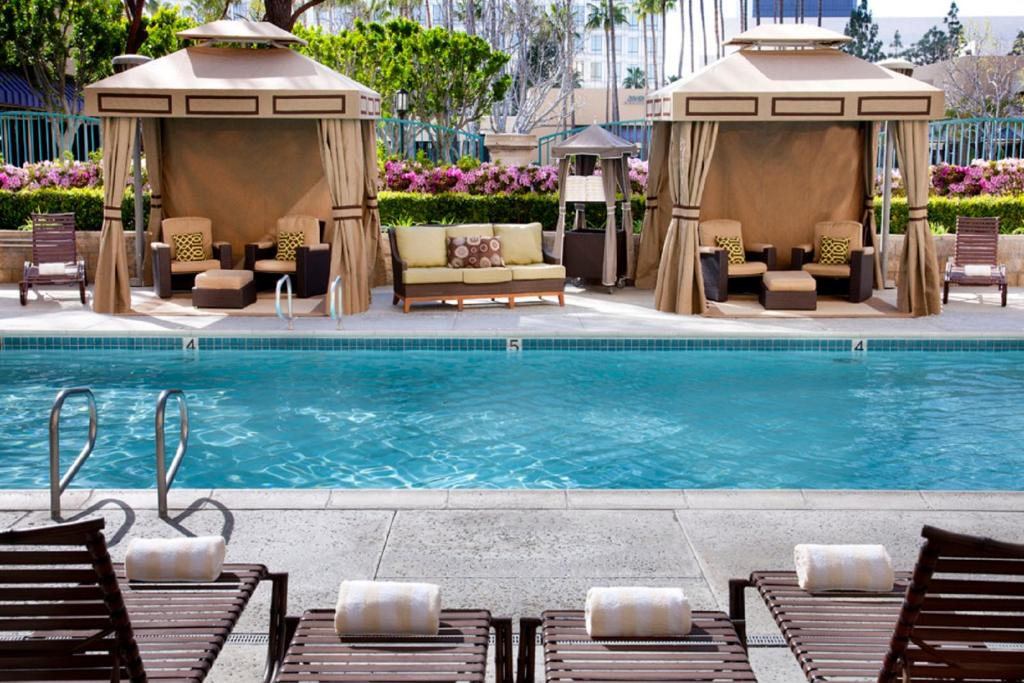 The swimming pool at or near Costa Mesa Marriott