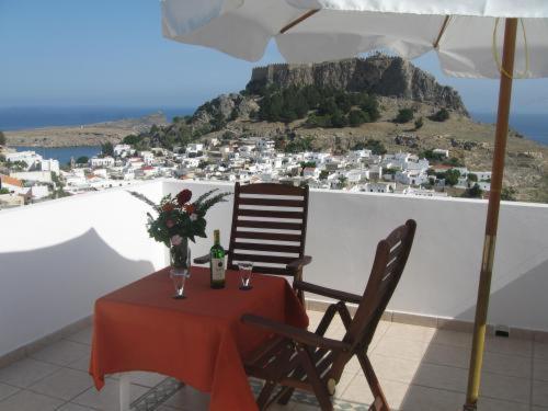 A balcony or terrace at Chrysa Studios