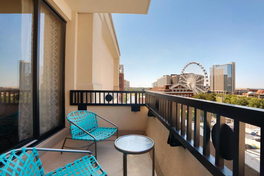A balcony or terrace at The American Hotel Atlanta Downtown-a Doubletree by Hilton