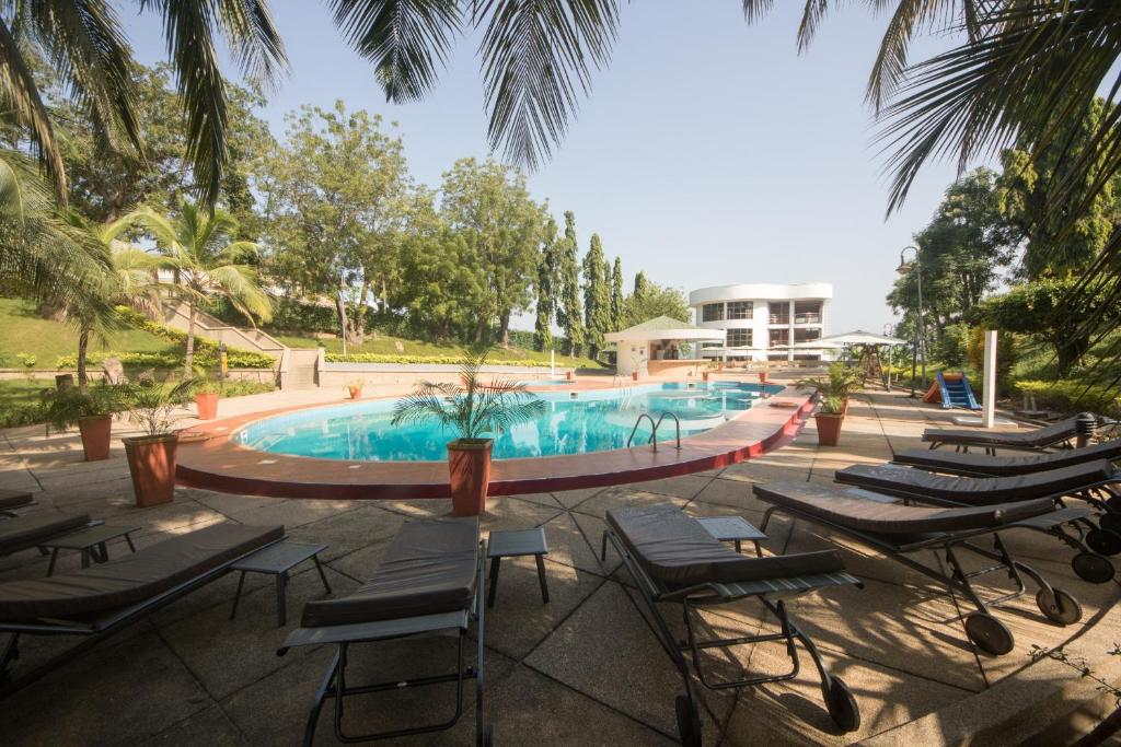 The swimming pool at or near Volta Hotel