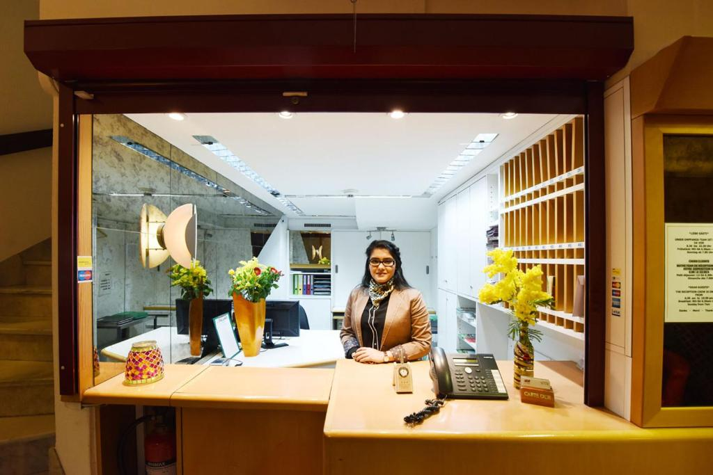 Lobby/Rezeption in der Unterkunft Hotel Dufour