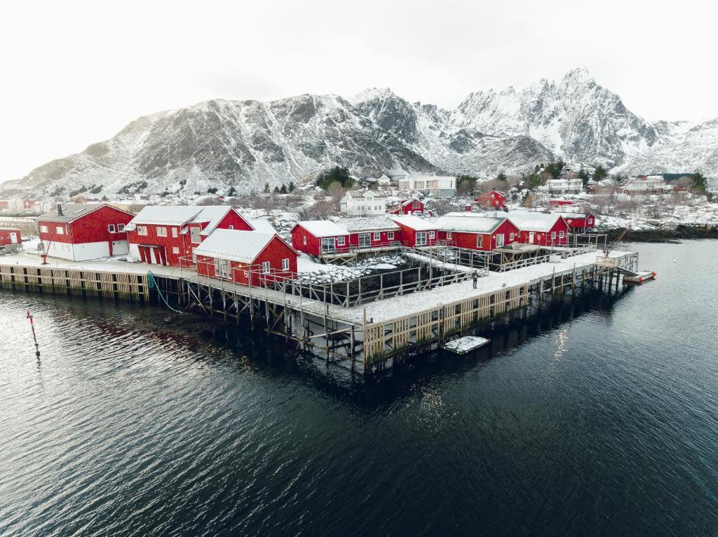 Hattvika Lodge durante l'inverno