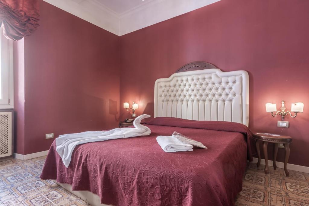 A room at the Hotel Foro Romano Imperatori.