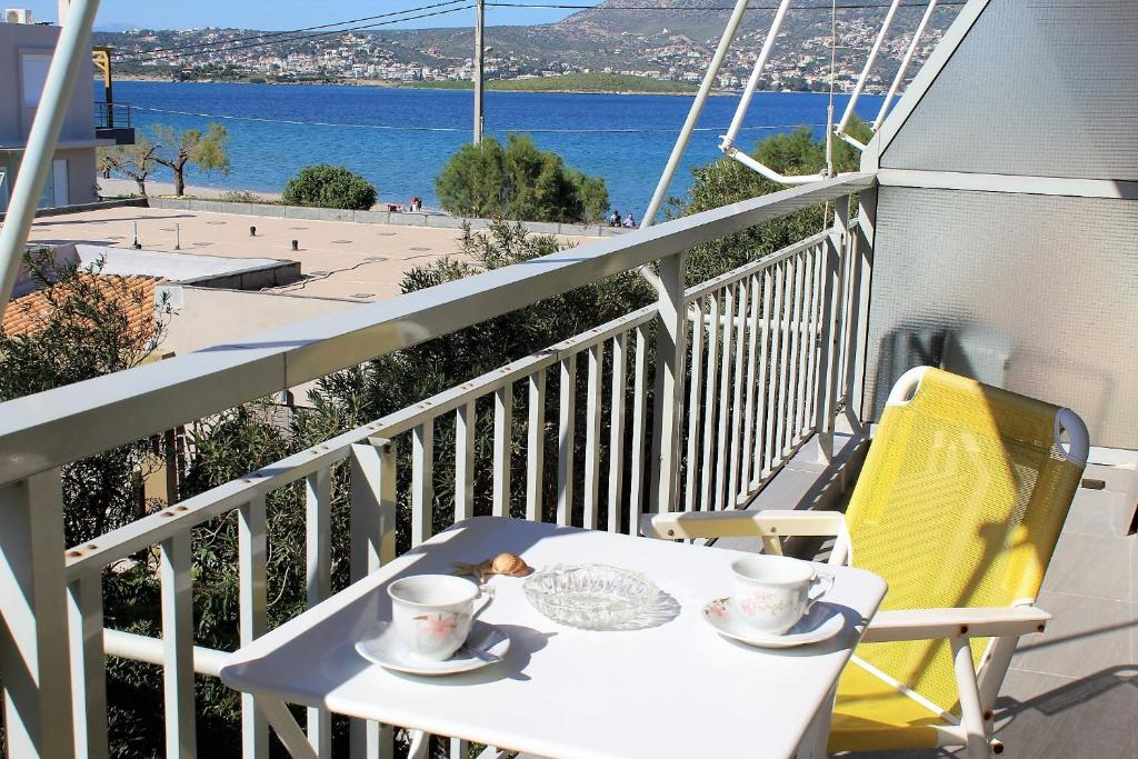 Apartment SEA VIEW in front of the beach of Agia Marina