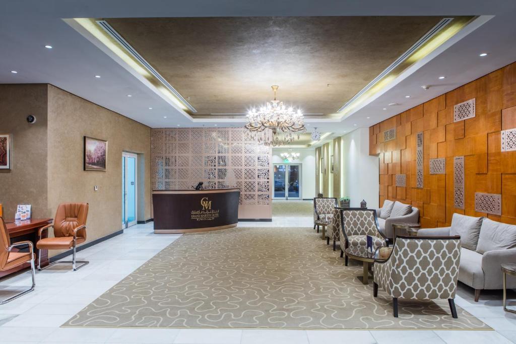 منطقة الاستقبال أو اللوبي في فندق غراند ماجستيك الكويت