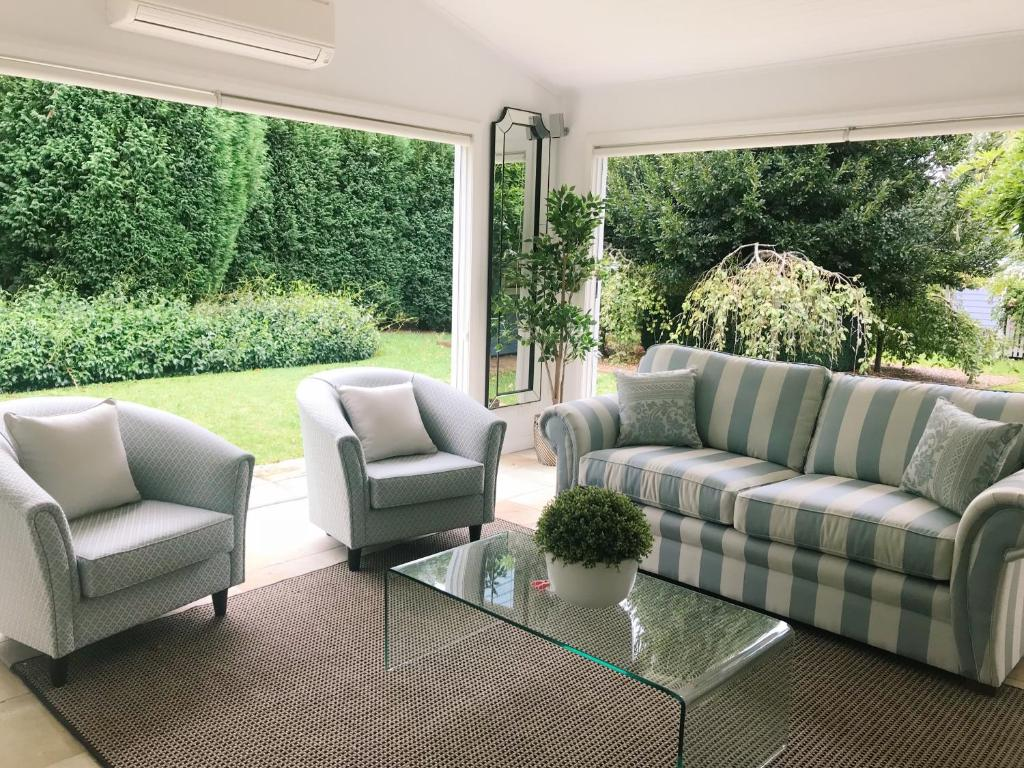 A seating area at Bowral Escape