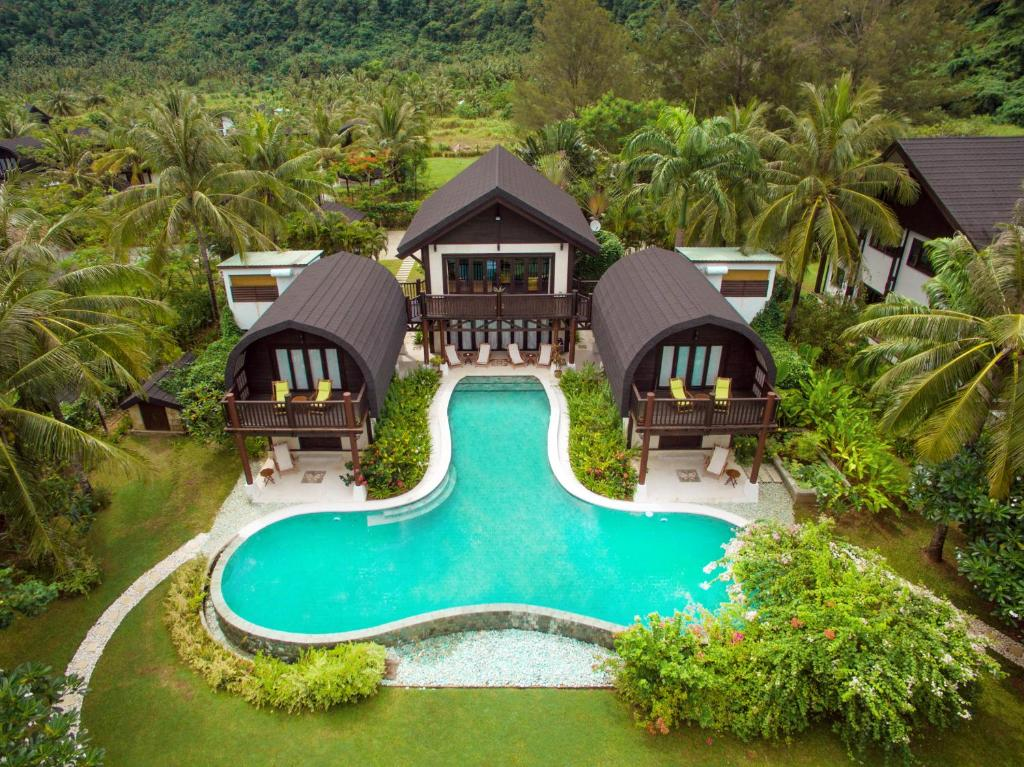 A view of the pool at Kudat Riviera Exclusive Beach Villas or nearby