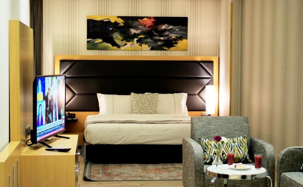 Cama ou camas em um quarto em All Days ِApartHotel
