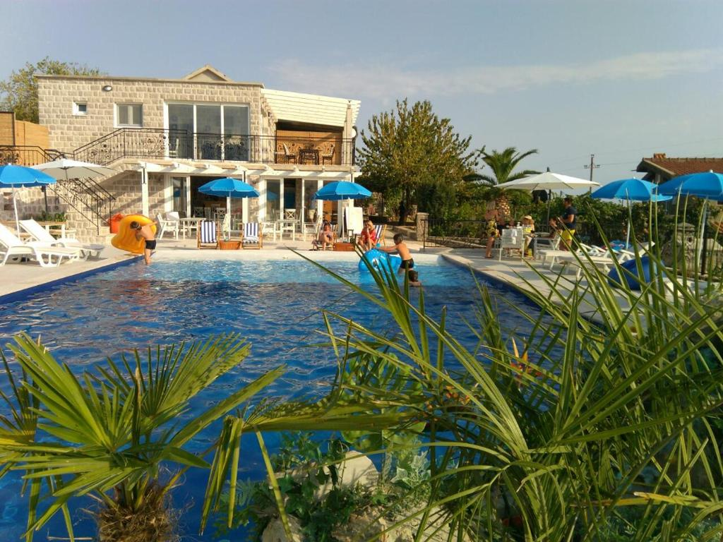 The swimming pool at or close to Luštica Apartments