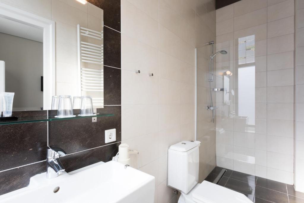 Een badkamer bij Hotel Zilt