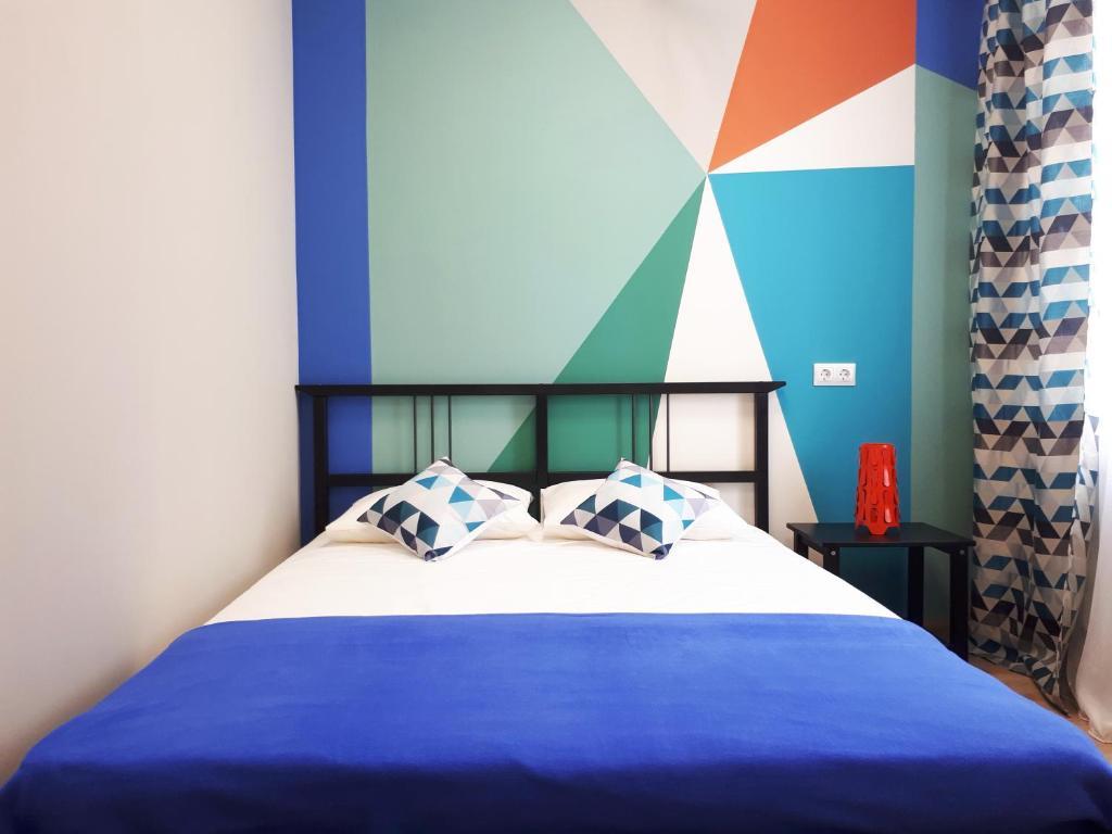 Кровать или кровати в номере Хостелы Рус -Новосибирск