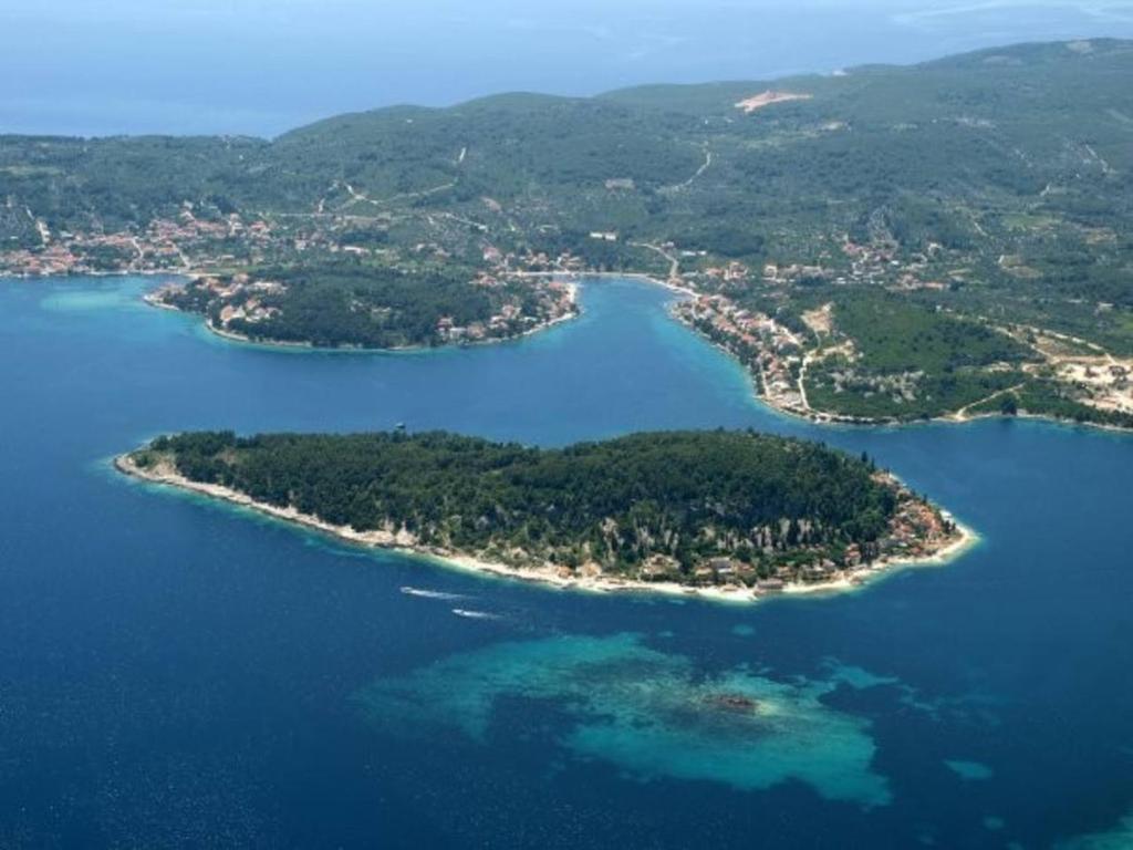 A bird's-eye view of Beach house Korčula Island Vrnik