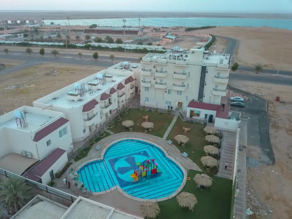 منظر فندق شاطىء الهدوء من الأعلى