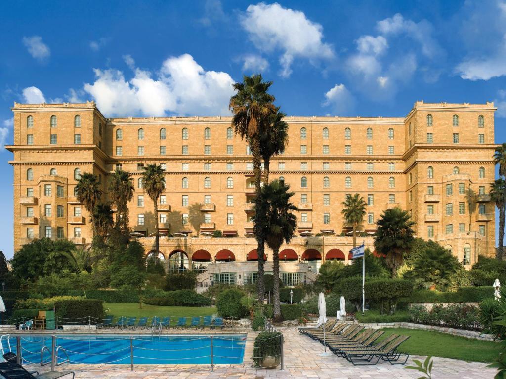 The swimming pool at or close to King David Hotel Jerusalem