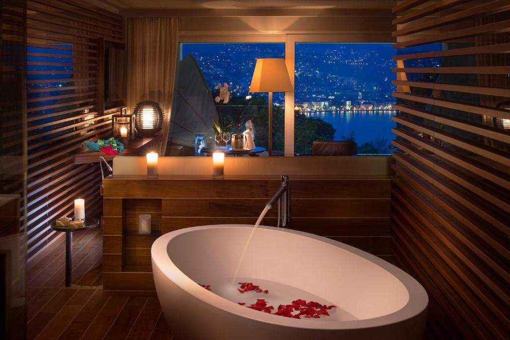 A bathroom at The View Lugano