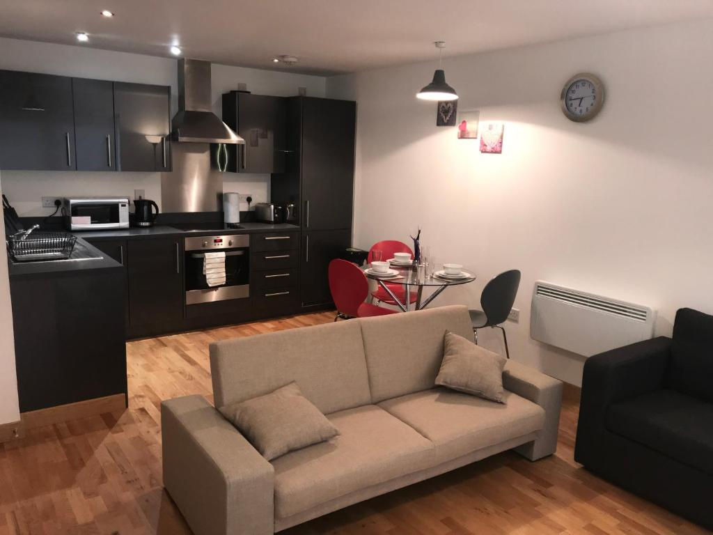 A seating area at Fairview city centre apartment - Basildon