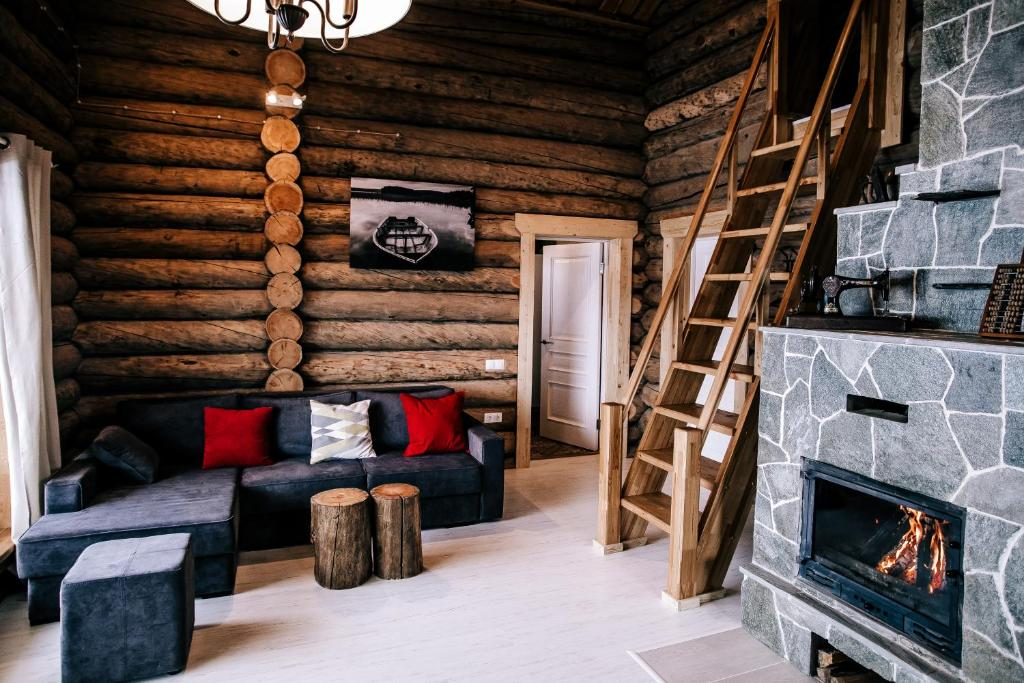 Гостиная зона в Freegreen cottages