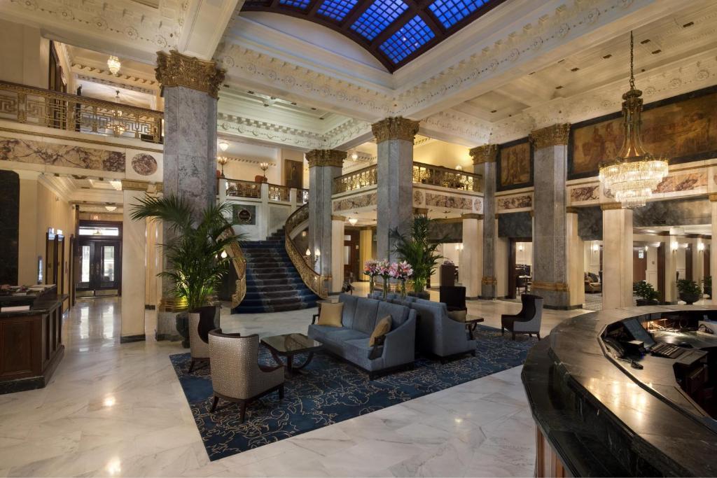 The lobby or reception area at The Seelbach Hilton Louisville