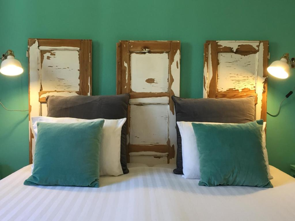 A bed or beds in a room at Casa Verdazul