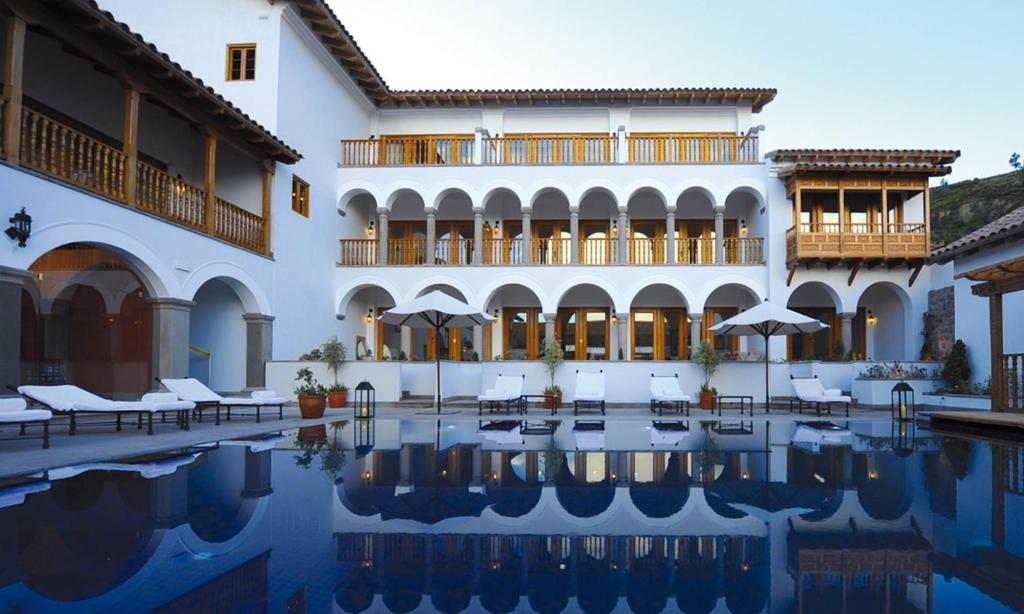 The swimming pool at or close to Palacio Nazarenas, A Belmond Hotel, Cusco