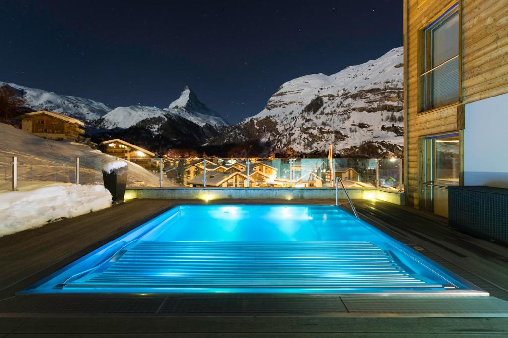 The swimming pool at or near Chalet Nepomuk