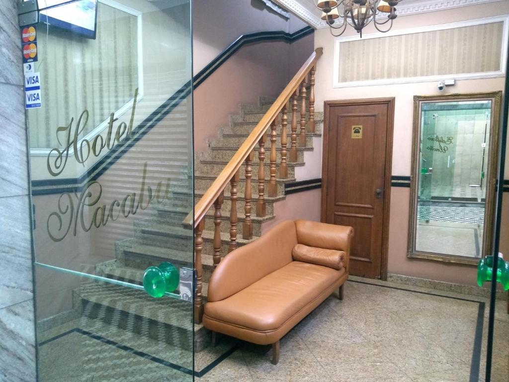 The lobby or reception area at Hotel Macabu