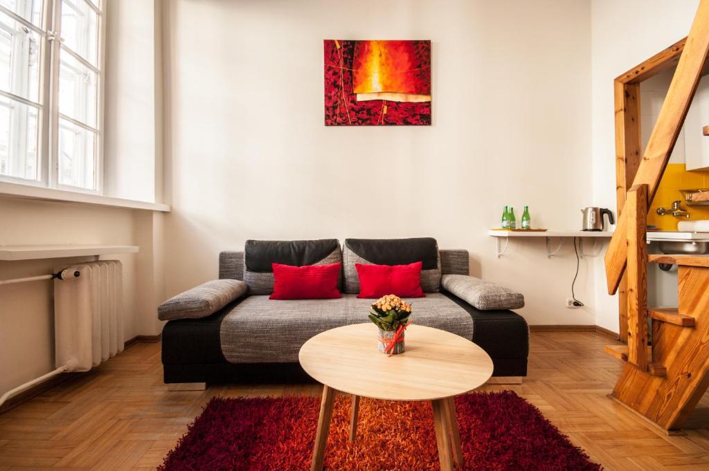 Część wypoczynkowa w obiekcie Elegant Apartment Royal Castle