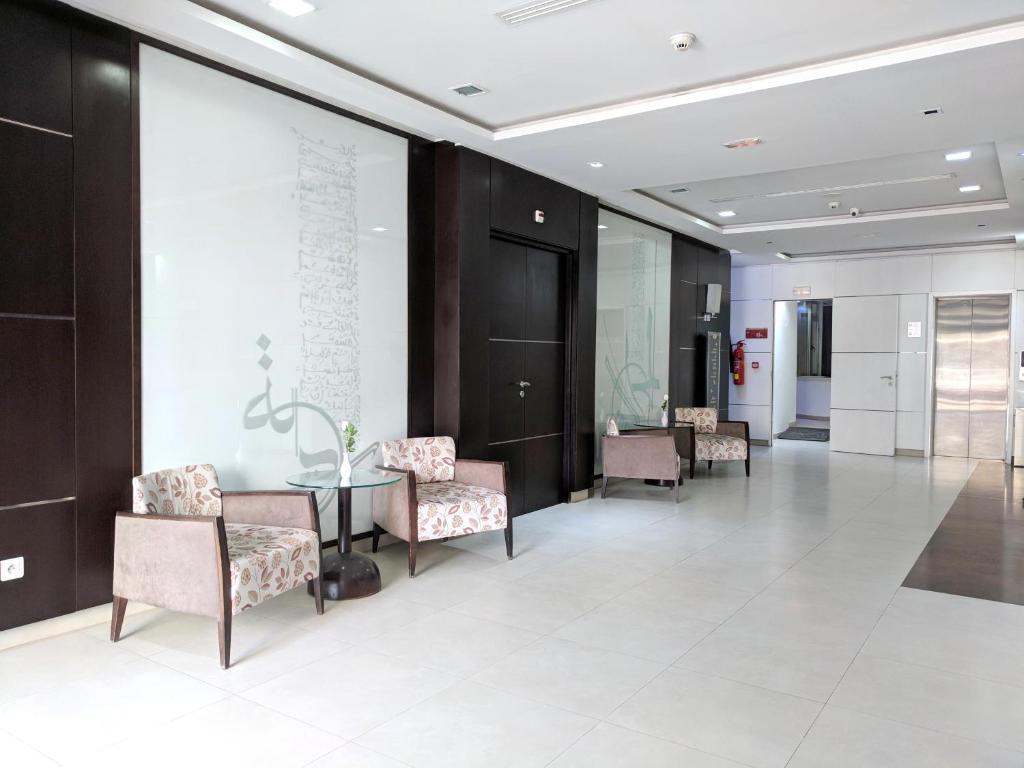 The lobby or reception area at Hotel Tiba