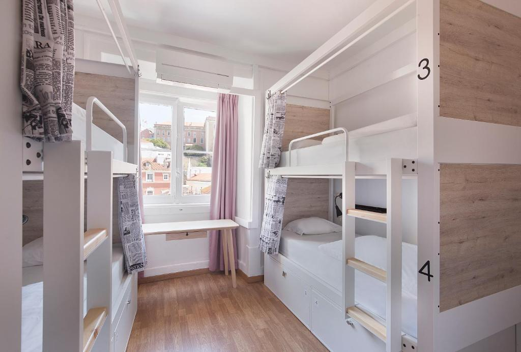 A bunk bed or bunk beds in a room at Goodmorning Solo Traveller Hostel