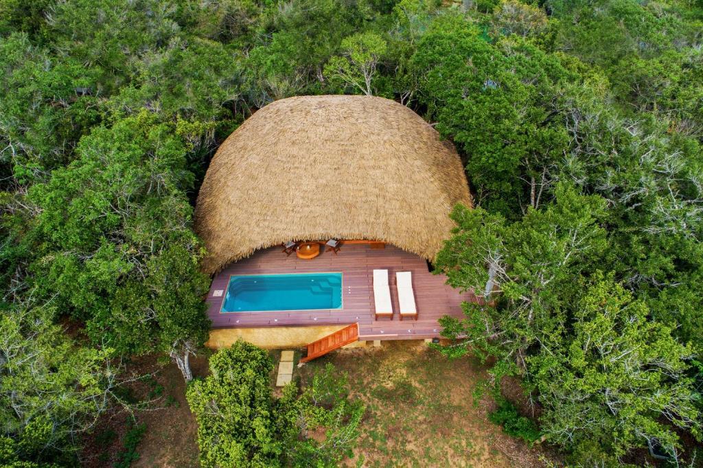 Uga Chena Huts – All Inclusive a vista de pájaro