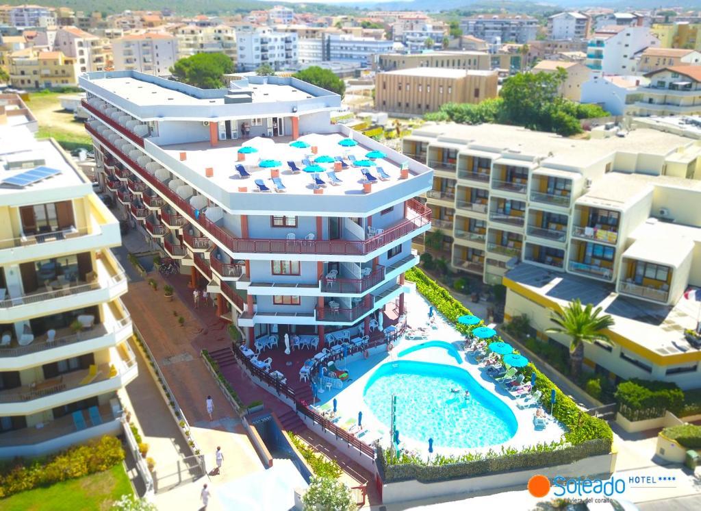 Blick auf Hotel Soleado aus der Vogelperspektive