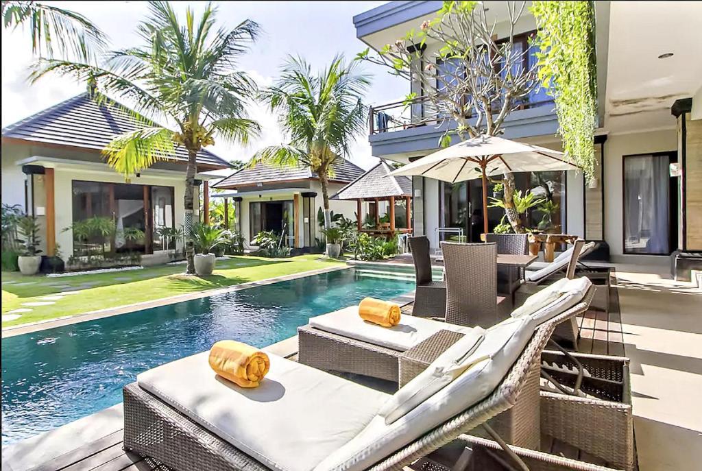 The swimming pool at or near Lebak Bali Residence