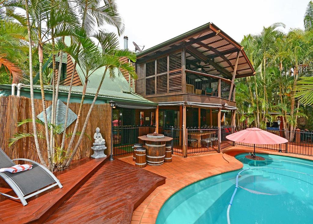 The swimming pool at or near Our Bali House Absolute Beach Front