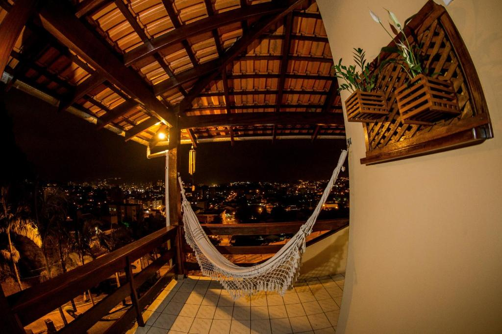 A balcony or terrace at Pousada Casarão