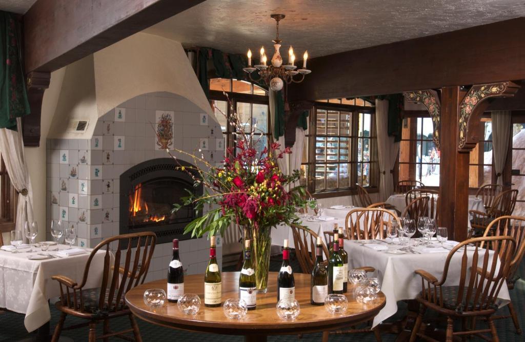 The restaurant at The Alpenhof.