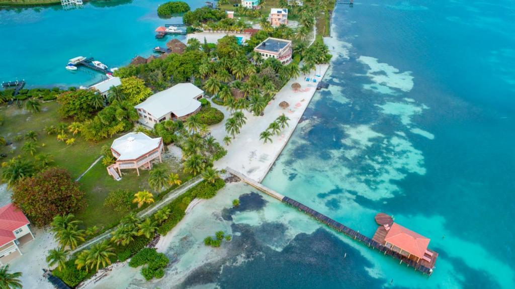 A bird's-eye view of St. George's Caye Resort