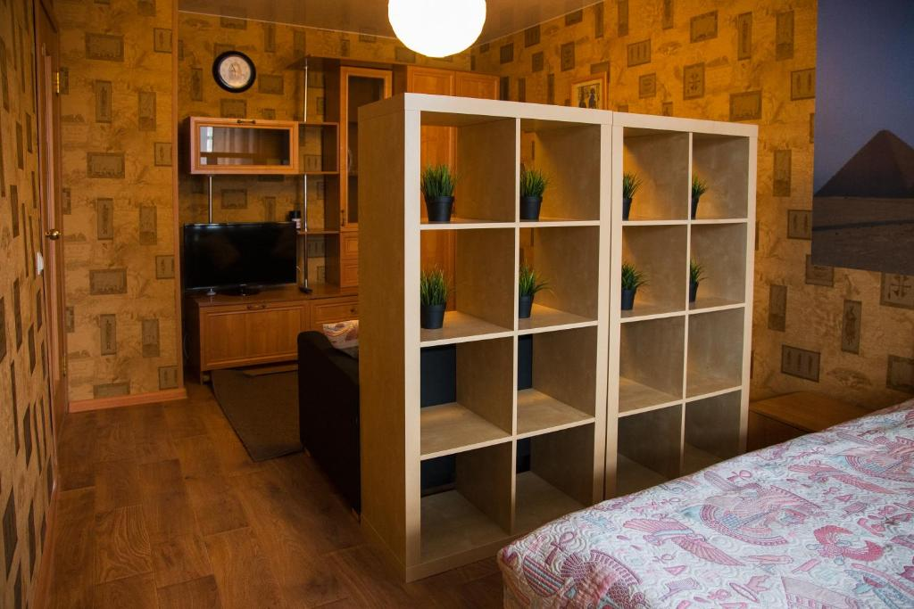 A television and/or entertainment center at Apartment on Moskovskaya 4A