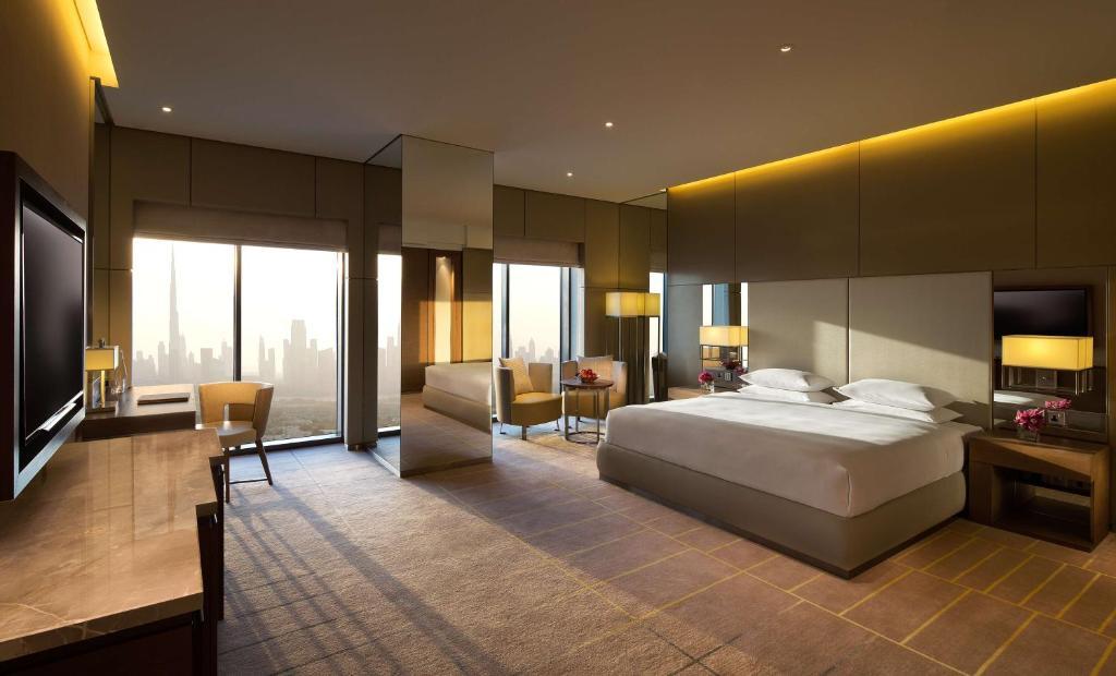 A room at the Hyatt Regency Dubai Creek Heights.