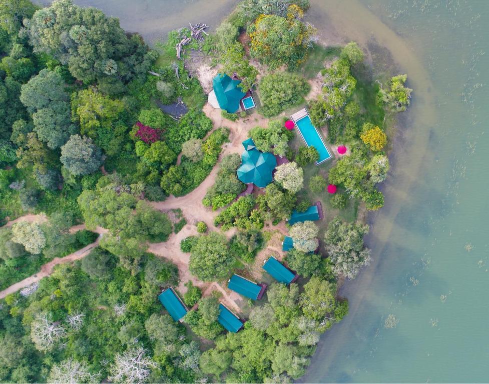 A bird's-eye view of Flameback Eco Lodge