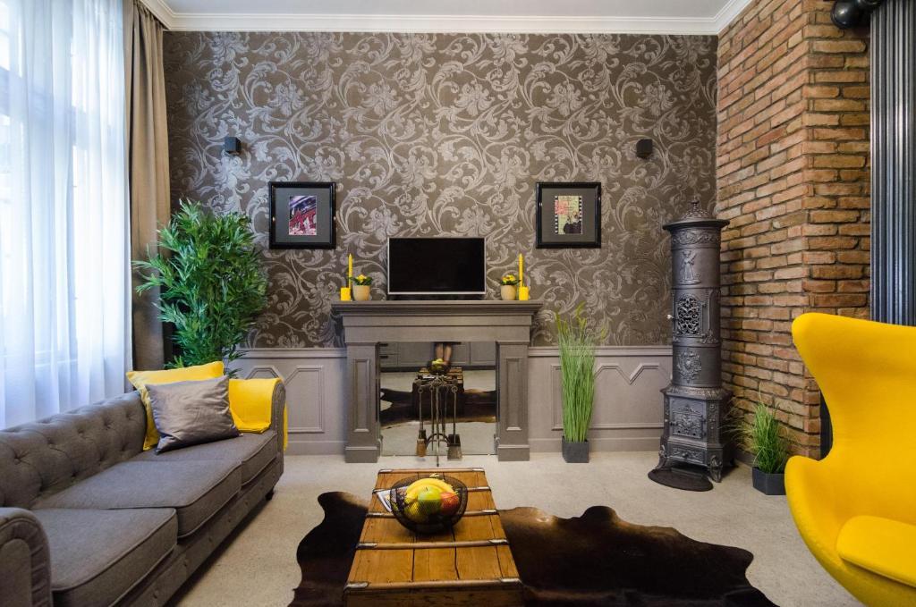 Posezení v ubytování Viktoria Luxury Apartment